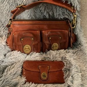 Coach Genuine Leather Purse & Wallet Set
